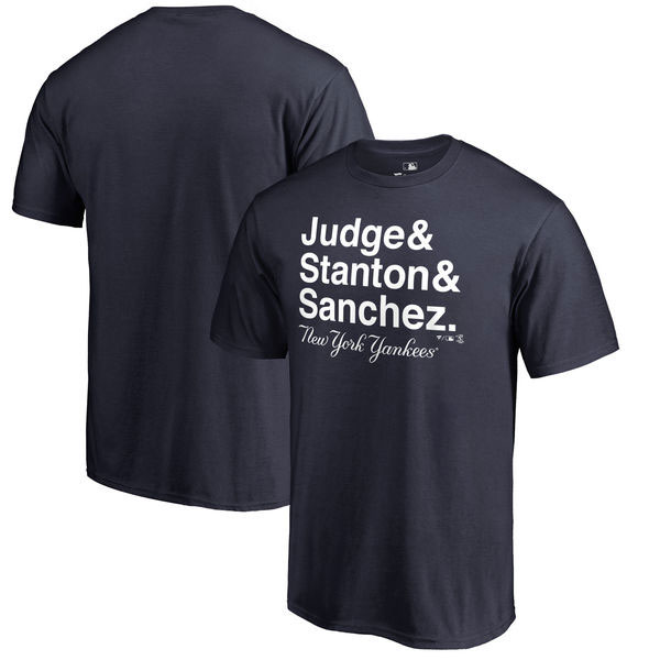 Aaron Judge, Giancarlo Stanton & Gary Sanchez New York Yankees Fanatics Branded Hometown Collection Trio T-Shirt