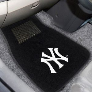 New York Yankees 2-Piece Embroidered Car Mat Set