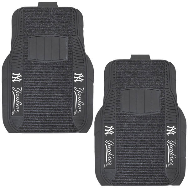 New York Yankees Two-Piece Deluxe Car Mat Set