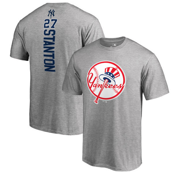 Giancarlo Stanton Classic New York Yankees logo t-shirt at Moiderer's Row Shop
