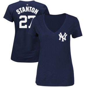 Ladies Giancarlo Stanton New York Yankees T-Shirt : Moiderer's Row Shop
