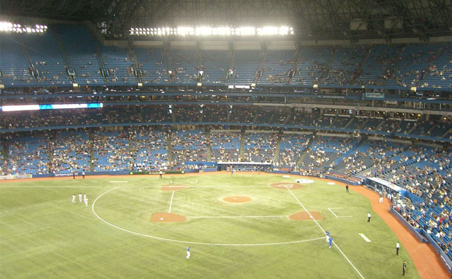 Yankees vs Blue Jays at Rodgers Centre on July 12, 2012