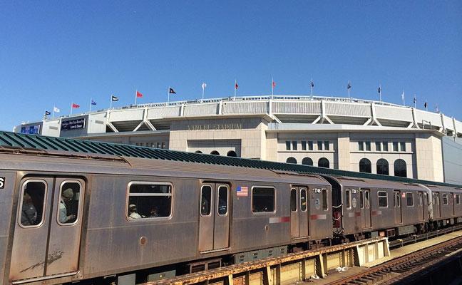 Yankee Stadium and The 4 Train Bronx New York