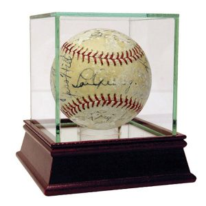 Lou Gehrig and 1935 Yankees Team Signed Baseball - Moiderer's Row Shop