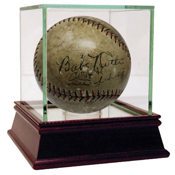 Babe Ruth and Lou Gehrig Signed Baseball - Moiderer's Row Shop