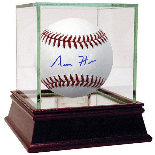 Aaron Hick autographed MLB baseball