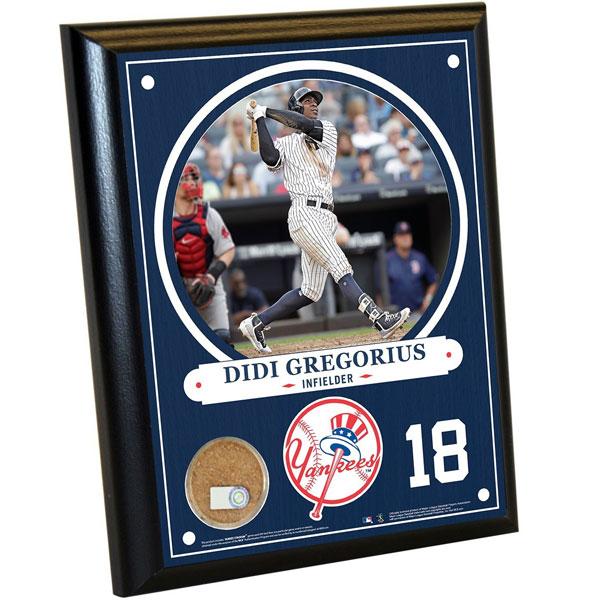 Didi Gregorius 8x10 plaque with game dirt from Yankee Stadium