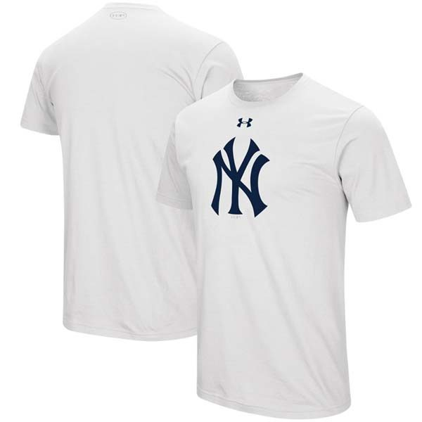 Yankees Under Armour White T-Shirt : Moiderers Row Store