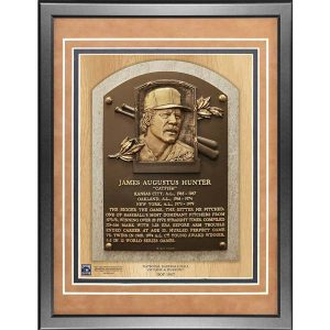 Jim Catfish Hunter 11x14 Framed Baseball Hall of Fame Plaque