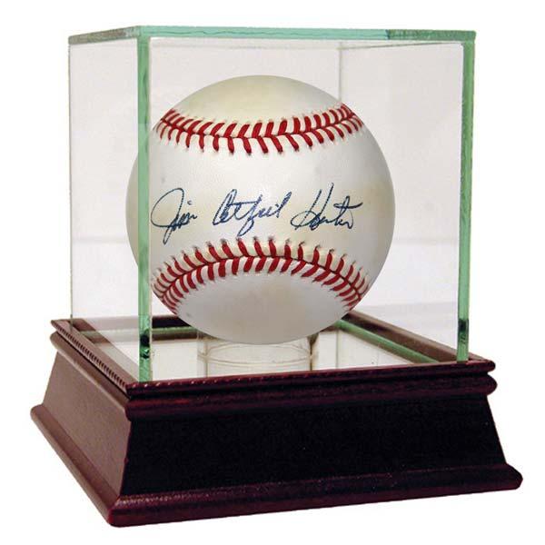 Jim Catfish Hunter signed baseball 1970s new york yankees