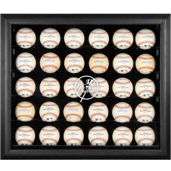 30-baseball display case New York Yankees logo