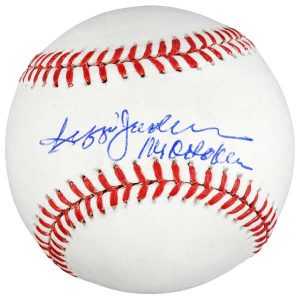 Authentic New York Yankees Reggie Jackson signed baseball with Mr. October inscription