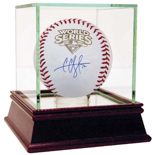 CC Sabathia 2009 World Series Signed Baseball : Moiderers Row Store