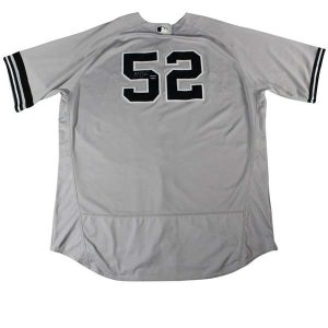CC Sabathia signed road jersey commemorating 3000 career strikeouts