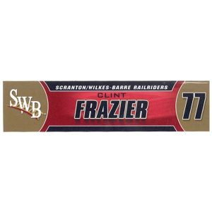 Clint Frazier 2018 SWB RailRiders Game Used Locker Room Nameplate