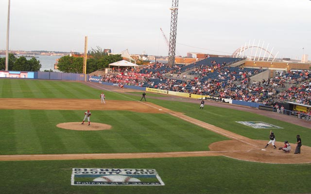 Photo of Richmond County Ballpark on June 28, 2014 in a game between the visiting Brooklyn Cyclones and Staten Island Yankees.