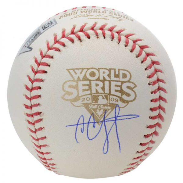 2009 world series cc sabathia signed baseball