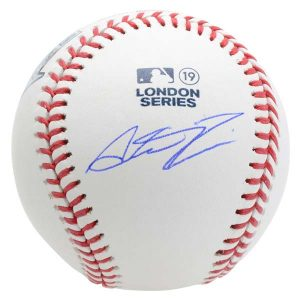 Austin Romine New York Yankees Signed Baseball from 2019 London Series versus Boston Red Sox