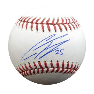 signed baseball by Gleyber Torres New York Yankees #25