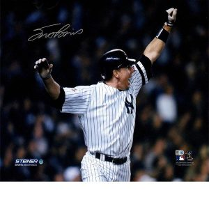 16 by 20 signed color photo of Scott Brosius 2001 World Series HR