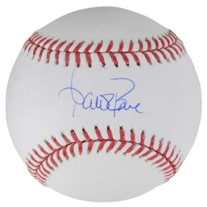 autographed baseball by yankees manager Aaron Boone