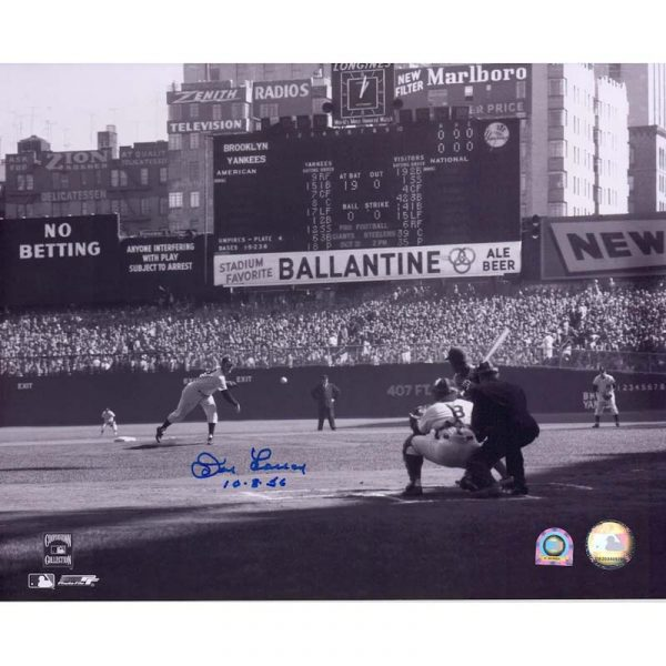 """Yankees Don Larsen autographed 1956 World Series Photograph """" Moiderer's Row Shop"""