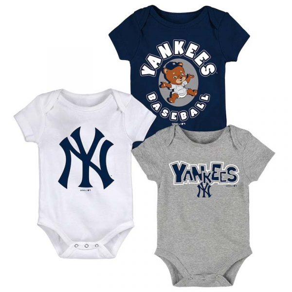 Yankees infants onesies 3-pack