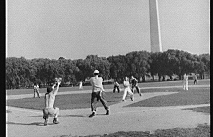 Amateur baseball game between teams of government employees, June 1942