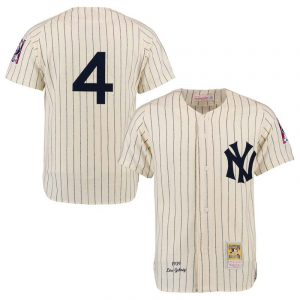 Yankees Lou Gehrig Throwback Creme-colored Jersey : Moiderers Row Shop