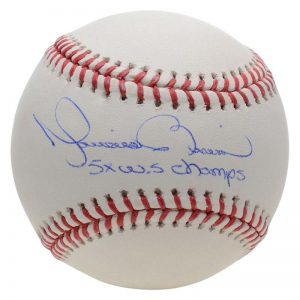 Mariano Rivera signed baseball 5x World Series Champs