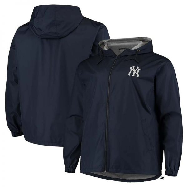 New YorkYankees men's big and tall full zip jacket at Moiderers Row Shop