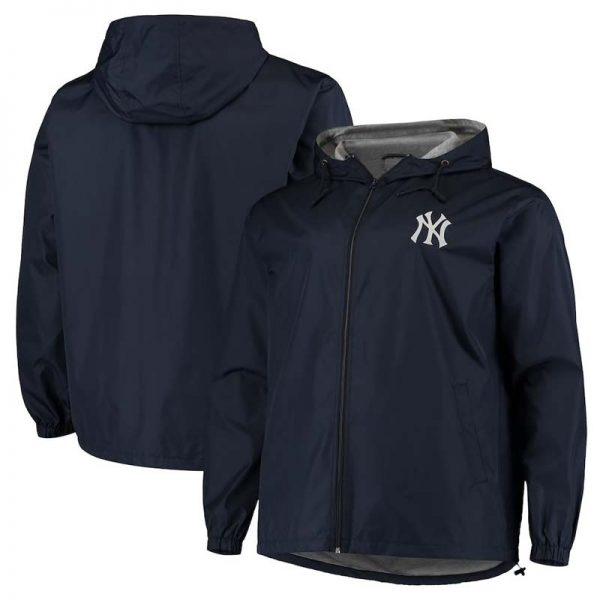 New YorkYankees men's big and tall full zip jacket at Moiderers Row Shop