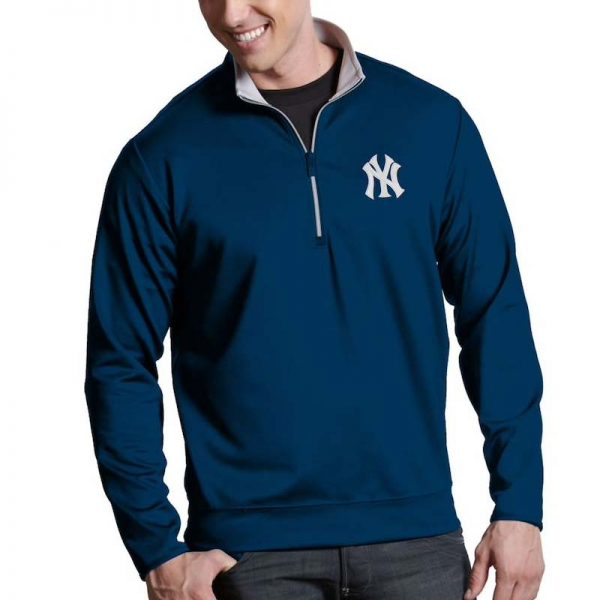 Yankees mens 1/4 zip pullover jacket : Moiderers Row Shop