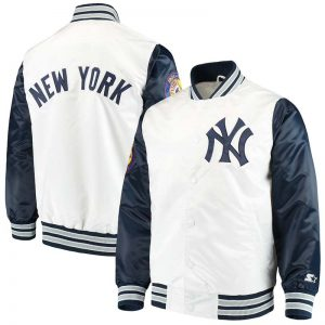 yankees white Starters jacket The Legend at Moiderers Row Shop