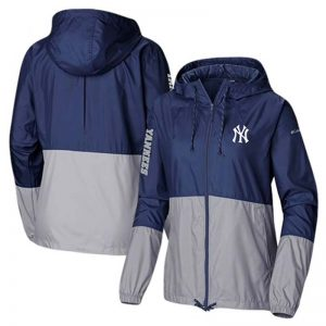 Yankees womens full-zip windbreaker jacket Moiderers Row Shop