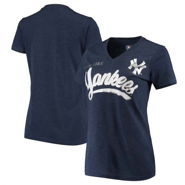 Yankees womens v-neck t-shirt by carl banks : Moiderers Row Shop