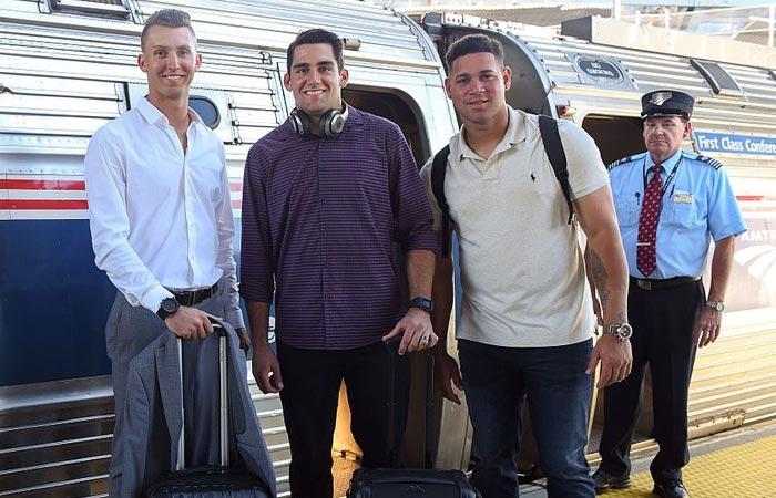 Chasen Shreve, Nathan Eovaldi, and Gary Sanchez.