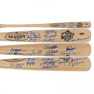 1998 World Series Champion New York Yankees Team Signed Bat Moiderers Row Shop