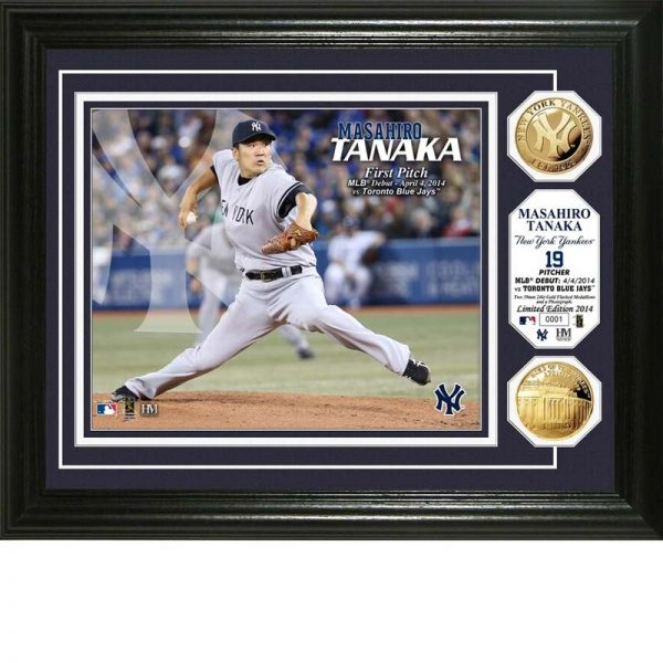 Yankees Masahiro Tanaka First MLB Pitch Commemorative Plaque at Moiderers Row Shop