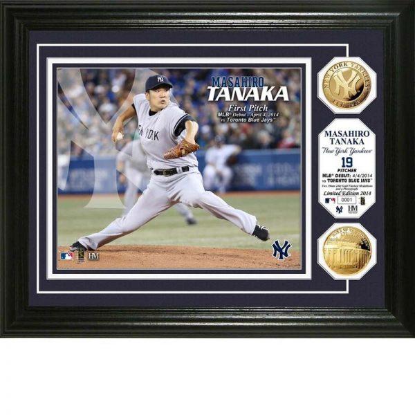 Yankees Masahiro Tanaka First MLB Pitch Commemorative Plaque at Moiderers Row Shop