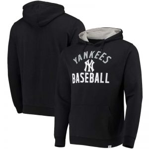 Yankees mens hoodie black & gray