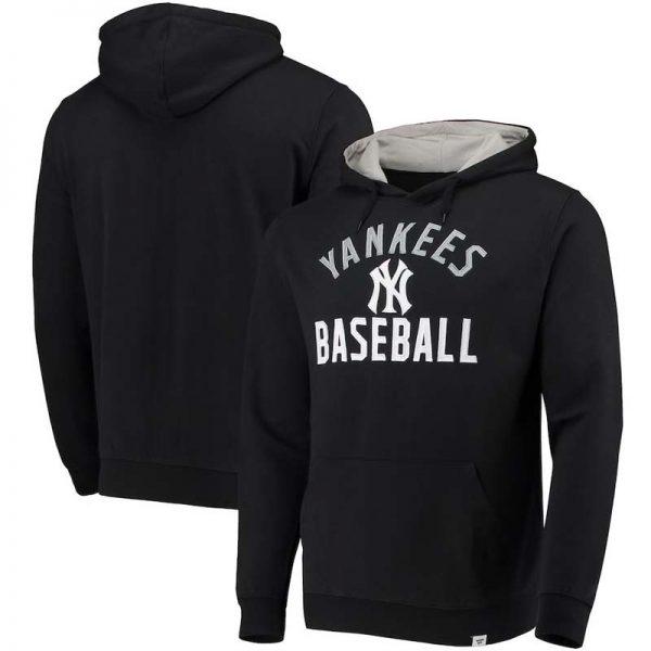 Yankees mens hoodie black & gray