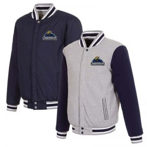 trenton thunder reversible fleece full snap jacket