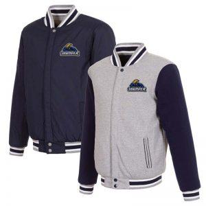 trenton thunder reversible fleece full snap jacket