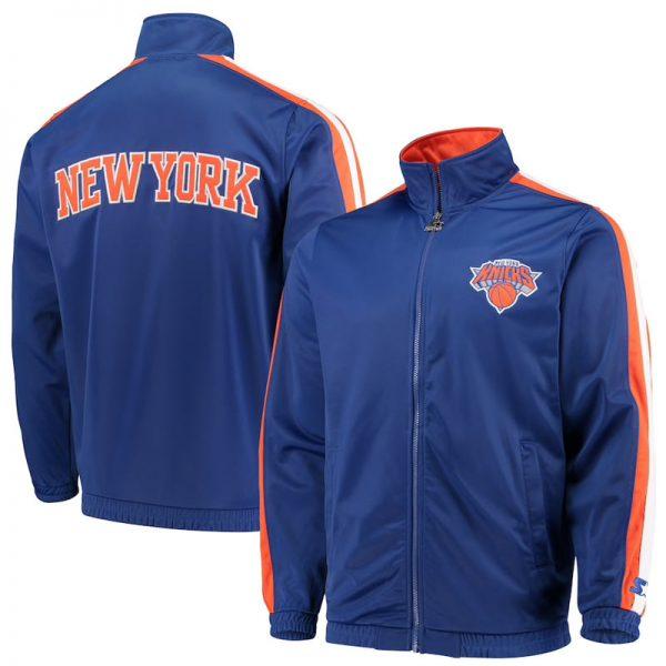 throwback new york knicks track jacket