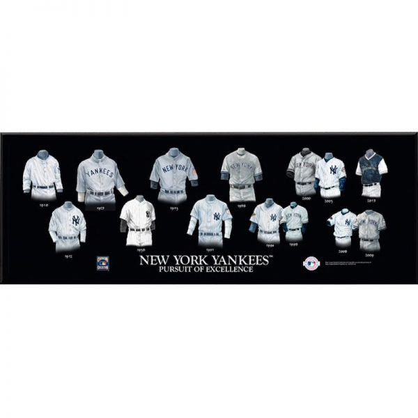 New York Yankees 8'' x 24'' Uniform Evolution Plaque