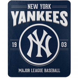 "yankees 50"" x 60"" fleece throw blanket"