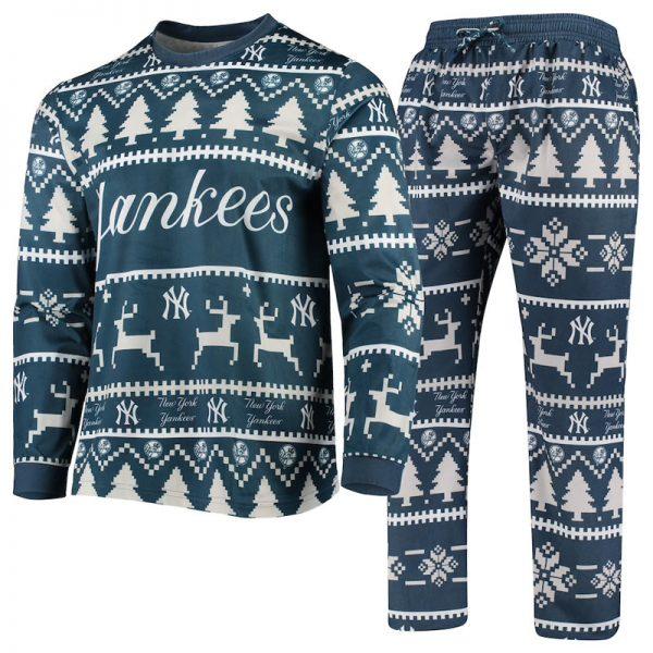 mens yankees holiday pajamas