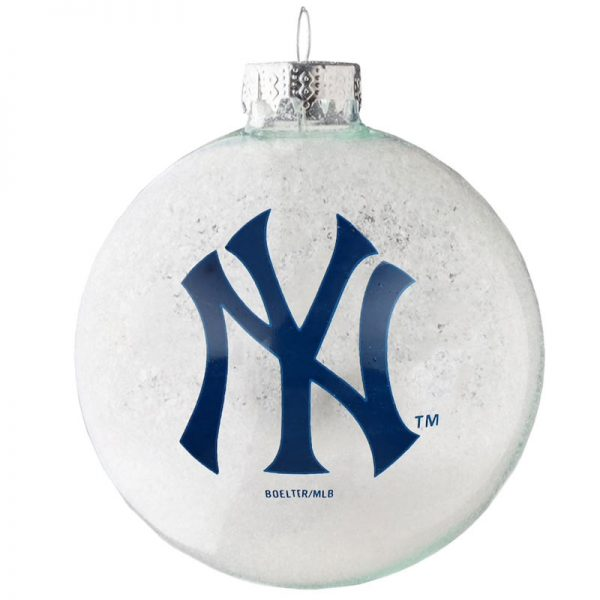 yankees snowball christmas tree ornament