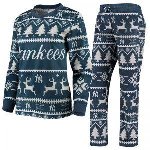 yankees womens holiday pajama set